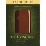 The Living Bible Large Print Edition, TuTone (LeatherLike, Brown/Tan)