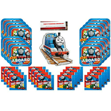 Thomas Train Party Favors (Thomas The Train Party Supplies Bundle Pack for 16 (16 Inch Balloon Plus Party Planning Checklist by Mikes Super)
