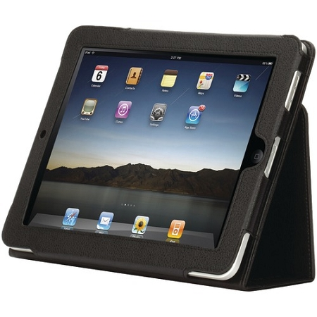 Griffin - Elan Multi-Position Folio Case for iPad 2/3/4 with Automatic Wake-Up Closure - Black