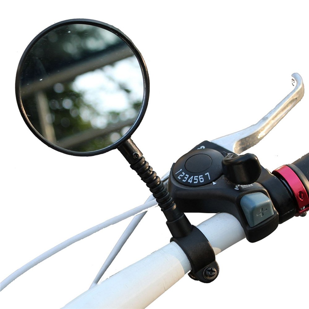 Rearview Mirror for Bicycle Bike, Handlebar Flexible Rear Back View Rearview Mirror Black