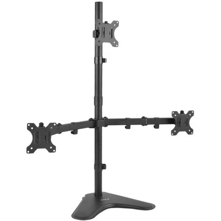 """VIVO Triple LCD Monitor Stand Desk Mount FreeStanding Heavy Duty Fully Adjustable fits 3 Screens up to 30"""" (STAND-V003E)"""