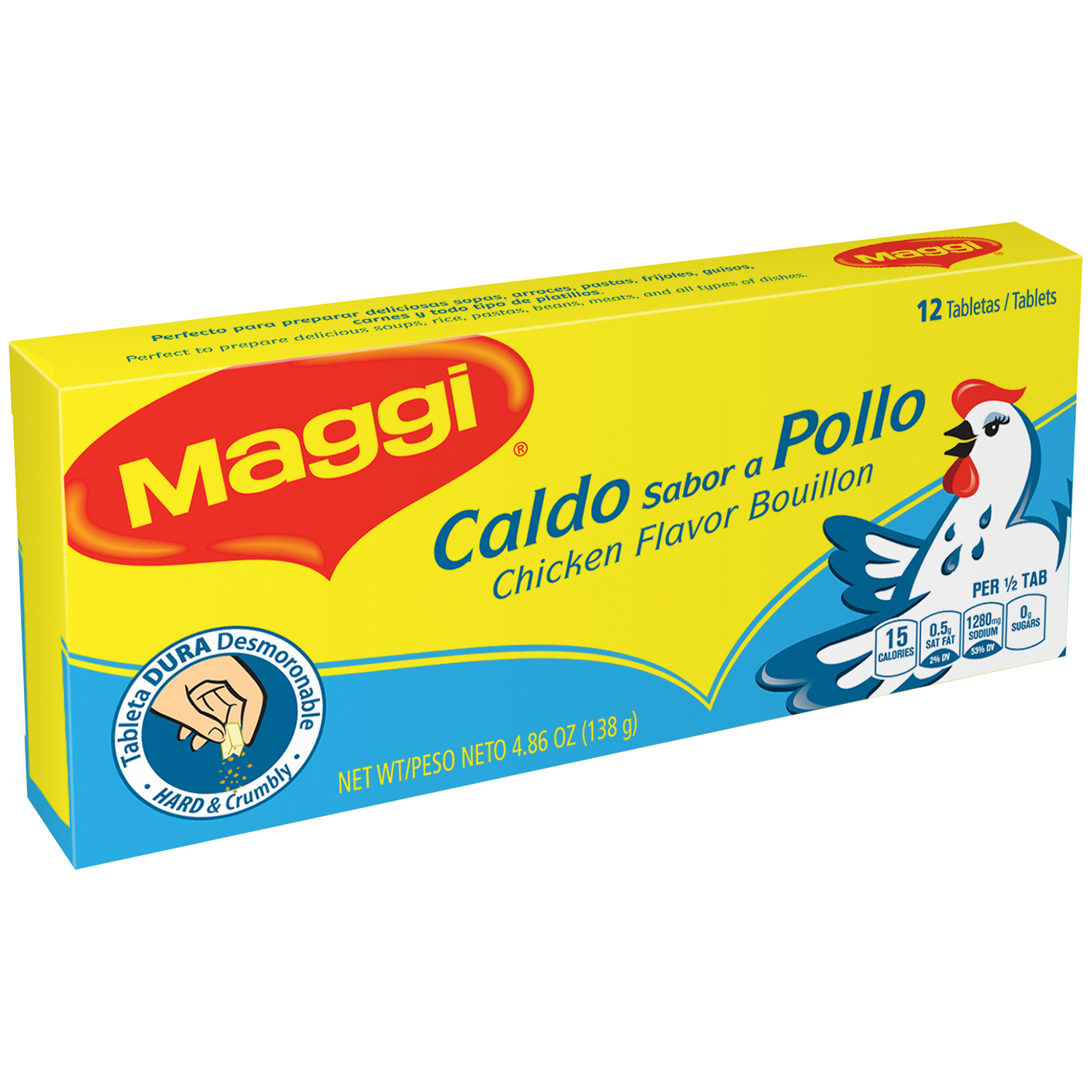 MAGGI Chicken Flavor Bouillon Tablets 4.86 oz. Box