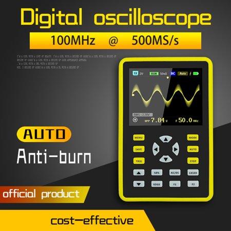 "2.4"" LCD Display Screen Handheld Portable Digital Mini Oscilloscope with 100MHz Bandwidth & 500MS/s Sampling Rate - 5012H"