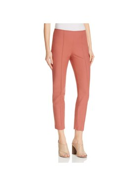 bd9734559c Product Image Theory Womens Alettah Twill Center Seam Ankle Pants Red 10