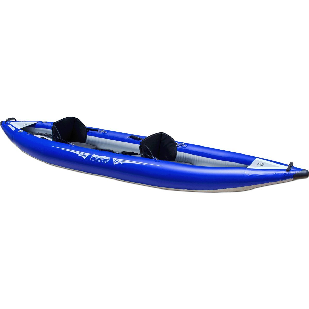 Aquaglide Klickitat Two HB Inflatable Kayak with River Running Outlines by