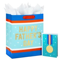 """Hallmark 13"""" Large Father's Day Bag with Tissue Paper and Fathers Day Card (Great Dad)"""