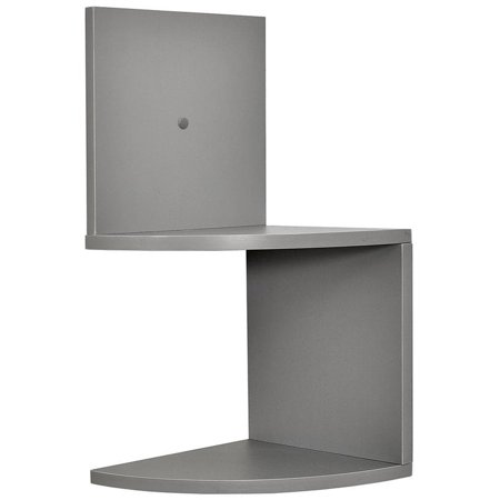 Greenco Modern Design 2 Tier Corner Floating Shelves, Gray Finish