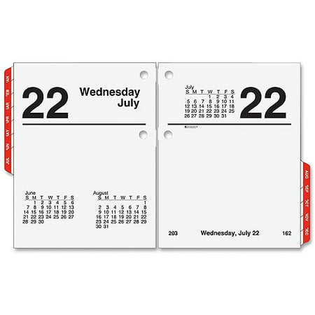 Franklin Blooms Daily Refills - At-A-Glance Compact Daily Desk Calendar Refill