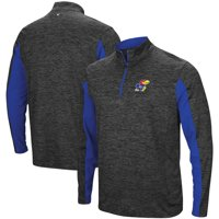 Kansas Jayhawks Colosseum Astroturf 1/4-Zip Windshirt - Heathered Black