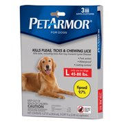 PetArmor Flea and Tick Squeeze-On Large Dog Treatment, 3 Monthly Doses