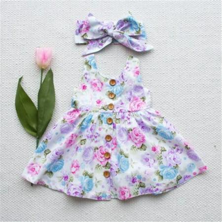 506db853baa Baby Girls Princess Dress Toddler Kids Sleeveless Floral Party Tulle Dress  Lace Tutu Skirts+Headband White 3-4 Years