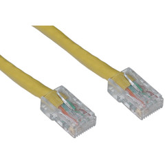 CableWholesale 10X8-18107 Cat6 Yellow Ethernet Patch Cable, Bootless, 7 foot