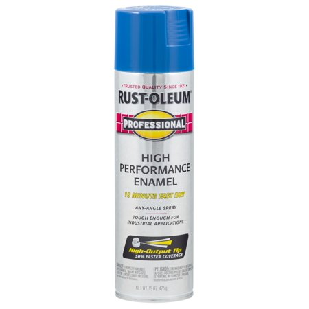 Rust-Oleum Professional High Performance Enamel Spray Paint Safety Blue, 15 oz (Safety Spray)