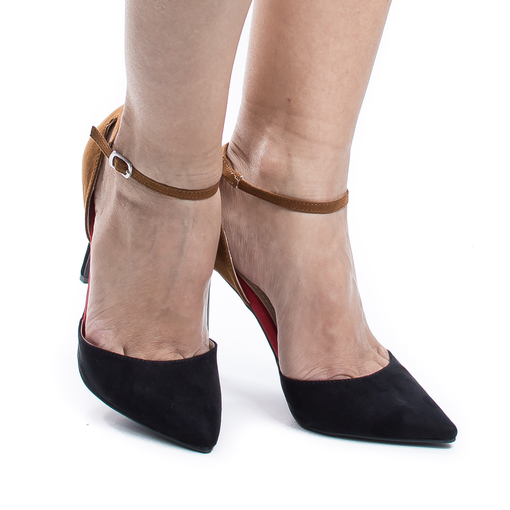 Riseup21V by Anne Michelle, Multi D'Orsay Buckle Ankle Cuff Stiletto Heel Dress Pumps