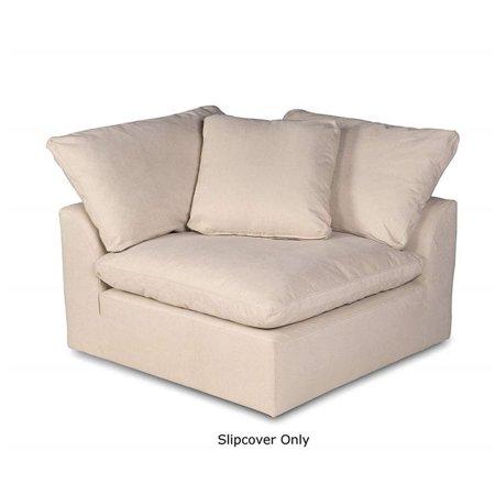 Sunset Trading SU-145851SC-391084 Cloud Puff Sofa Sectional Modular Arm Chair Slipcover - Performance Tan ()