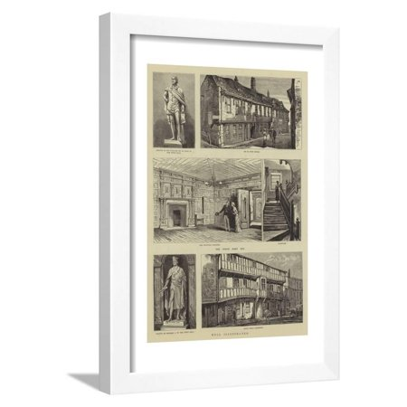 Hull Illustrated Framed Print Wall Art