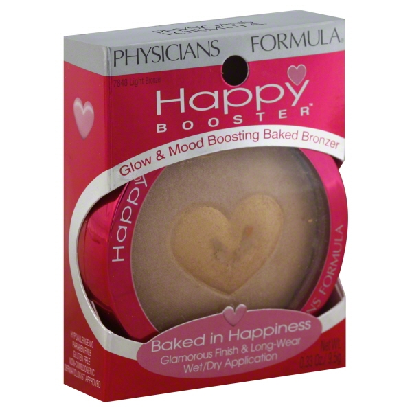 Physicians Formula Happy Booster Glow & Mood Boosting Baked Bronzer, Light Bronzer, 0.33 Ounce