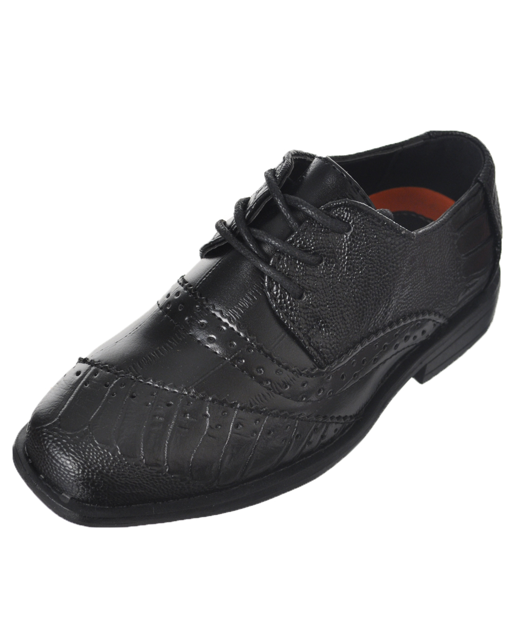 """Jodano Collection Boys' """"Croc Worsted"""" Dress Shoes (Toddler Sizes 5 - 12)"""