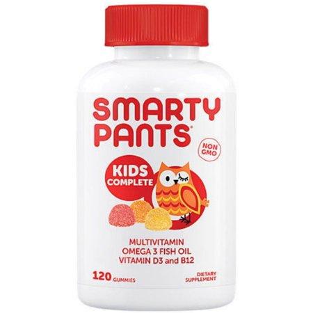 3 Pack - SmartyPants Kids Complete Delicious Multivitamins Gummies 120 ea