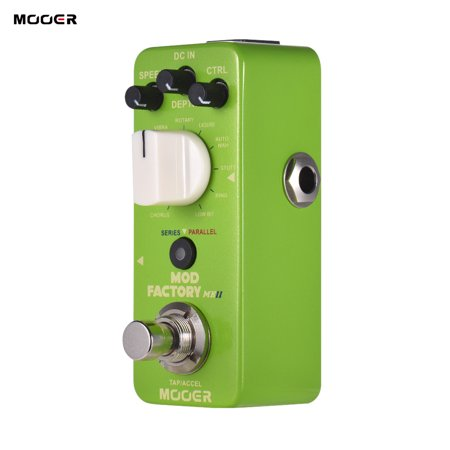 MOOER MOD FACTORY MKII Multi Modulation Effect Pedal 11 Modulation Effects Tap Tempo True Bypass Full Metal (Best Multi Effects Pedal For The Money)