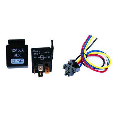 Groovy Dnf 50 Pair 50 Amp 12V Bosch Style Relay Harness Socket Spdt Wiring Digital Resources Spoatbouhousnl