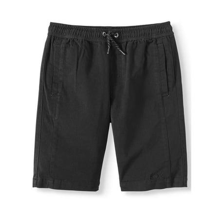 Pull On Stretch Shorts - Tony Hawk Pull On Stretch Twill Shorts (Big Boys)