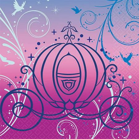 Disney Cinderella Sparkle Beverage Napkins, - Cinderella Birthday Supplies