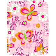 Creative Cuts Microfiber No Sew Throw Kit, Butterfly, Pink