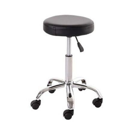 Barberpub Barber Salon Spa Medical Office Black Hydraulic Aluminum Foot Stool 6002 Black