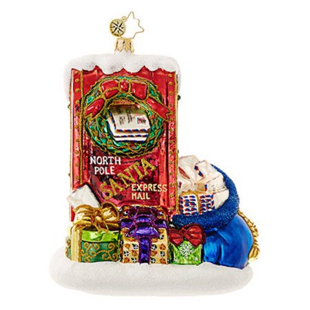 Christopher Radko Letters to Santa Mouth Blown Poland Glass Christmas Ornament Christopher Radko Letters To Santa