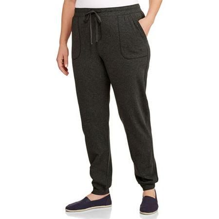 853663f811c Faded Glory - Women s Plus-Size Knit Jogger Pants - Walmart.com