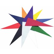 """School Specialty Felt Pennants, 9"""" x 22"""", Assorted Colors, Pack of 12"""