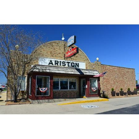 LAMINATED POSTER Illinois Ariston Litchfield Restaurant Route 66