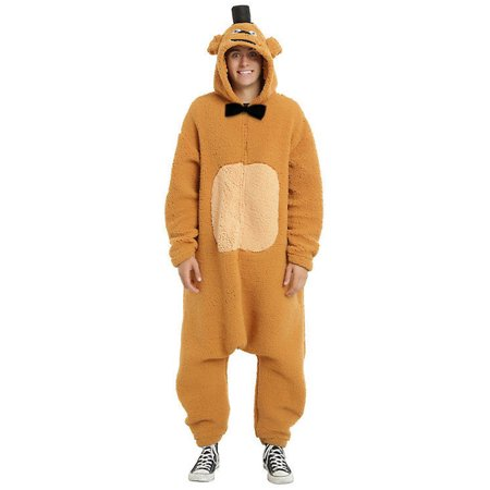 Female Kigurumi (Five Nights at Freddys Freddy Kigurumi Union Suit Cosplay Oversized PJ Men)