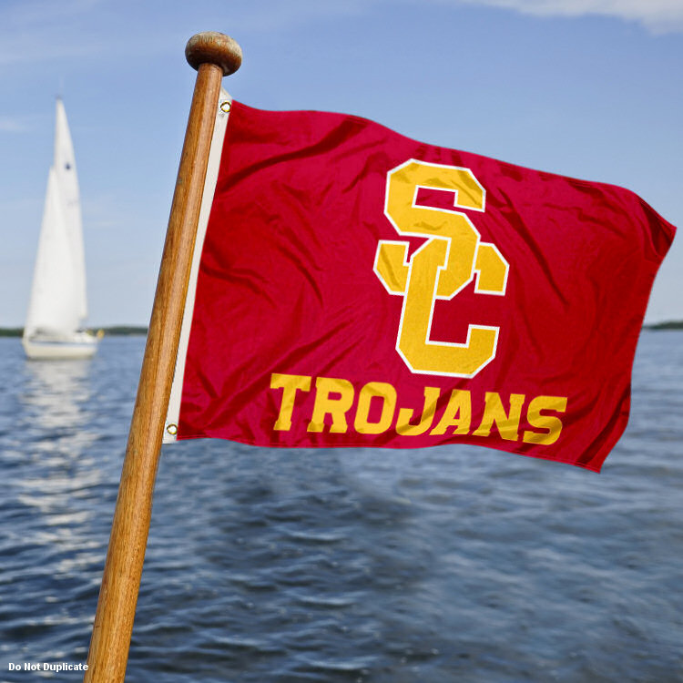 Southern Cal Trojans New Logo Boat Flag by College Flags and Banners Co.