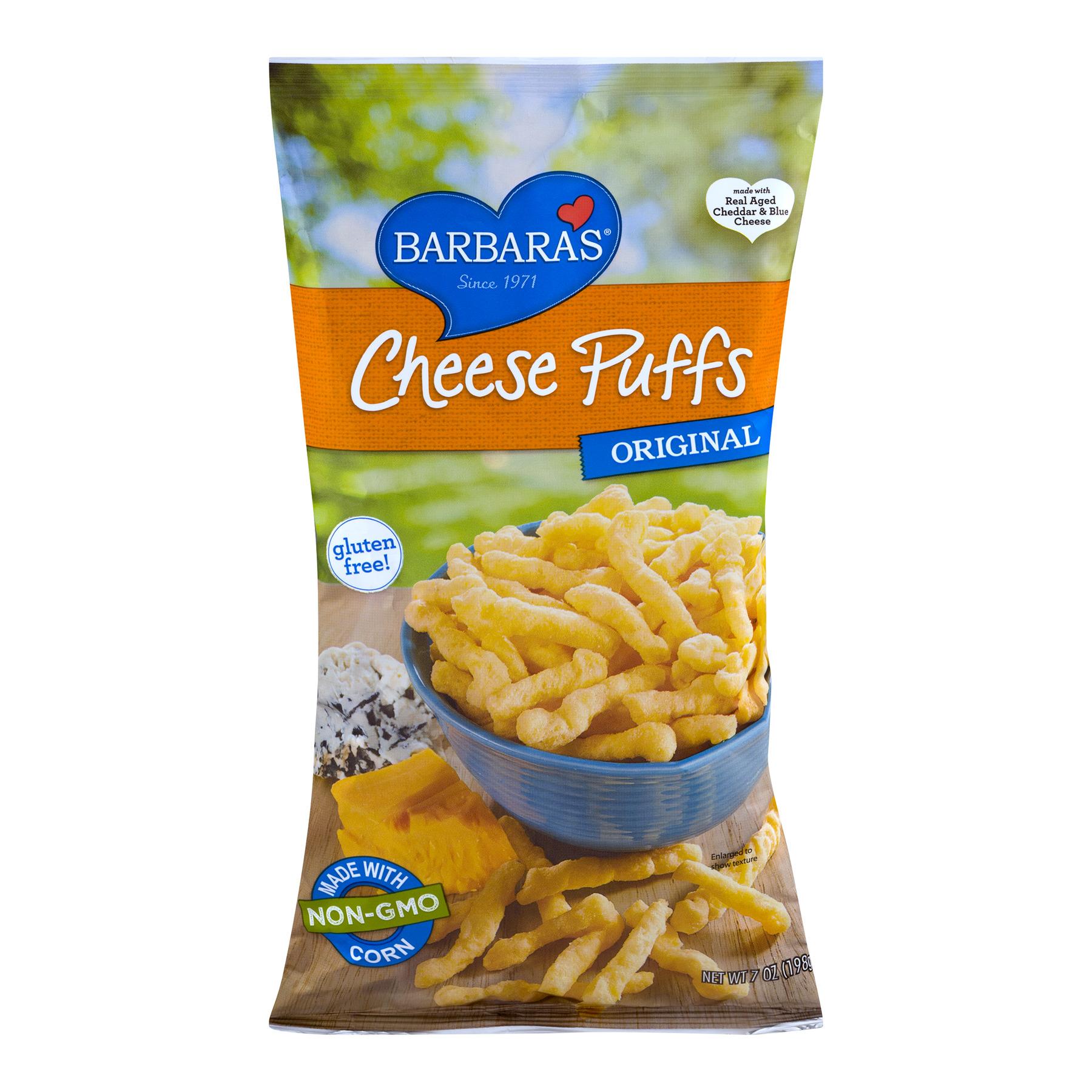 (4 Pack) Barbara's® Original Cheese Puffs 7 oz. Bag