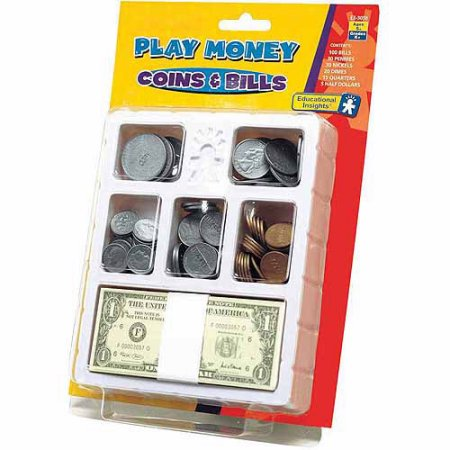 Educational Insights Play Money   Coins   Bills Try