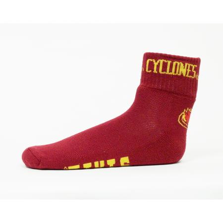 Iowa Quarters - Iowa State Cyclones Red Quarter Sock