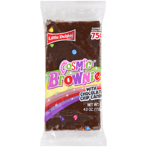Little Debbie Snacks Cosmic Brownies With Chocolate Chip Candy, 4 oz