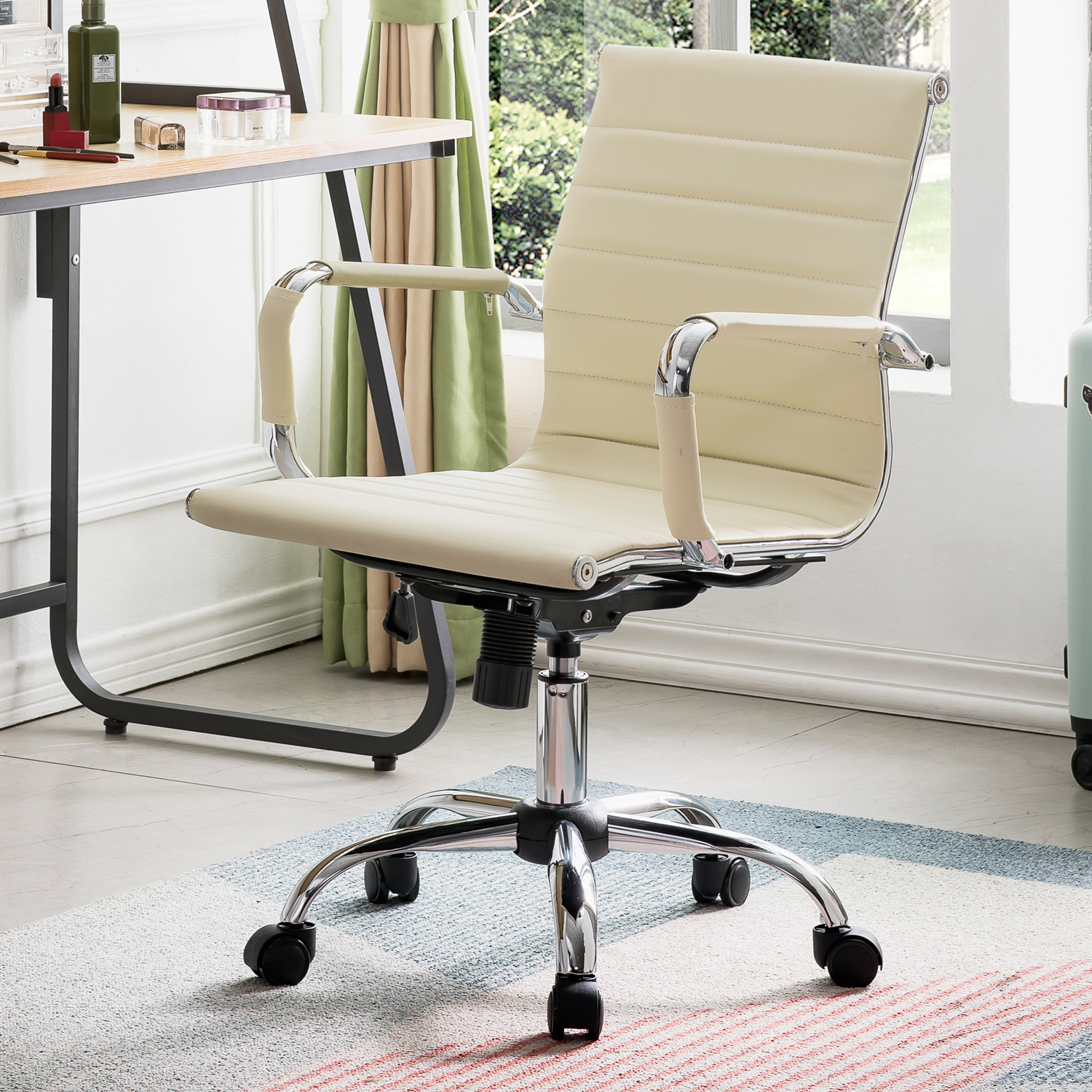 OVIOS Ergonomic Office Chair,Leather Computer Chair For