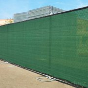 Clevr 6' x 50' Fence Wind Privacy Screen Mesh Commercial Cover with Grommets