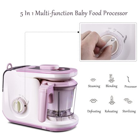 5 In 1 Baby Food Processor Feeding Blender Fixer Puree Heating Defrosting - image 9 of 10