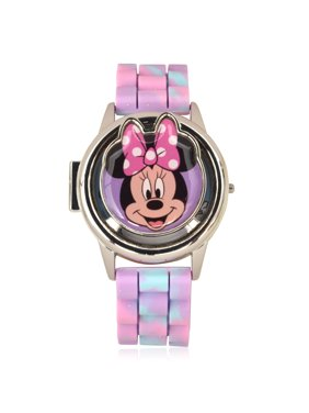 Minnie Mouse flip top spinner Digital bumpy rubber Watch