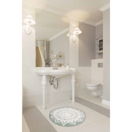 Better homes and gardens blooming medallion cotton bath - Better homes and gardens bathroom rugs ...