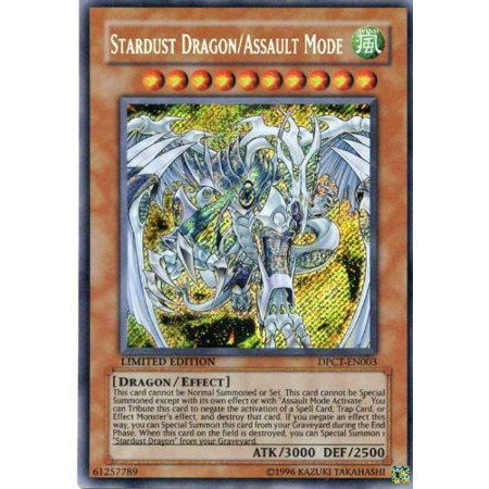 Limits Rare Card - Yu-Gi-Oh! - Stardust Dragon/Assault Mode (DPCT-EN003) - Duelist Pack Exclusive Tin Promos - Limited Edition - Secret Rare, A single individual card from the Yu-Gi-Oh!.., By YuGiOh Ship from US