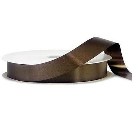 2 Unit Dark Chocolate Poly Ribbon 1-1/4
