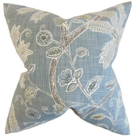 Domain Feather Filled Decorative Pillow : The Pillow Collection Mead Floral Feather FIlled Mineral Throw Pillow - Walmart.com