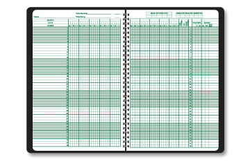 Class Record Book Small (for 9 or 10 week grading periods) by Ward Products