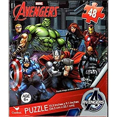 Avengers 48 Piece PuzzleCAPTAIN AMERICA, HULK, THOR, BLACK WIDOW, HAWKEYE, FALCON, AND IRONMAN (Ironman Vs Thor)