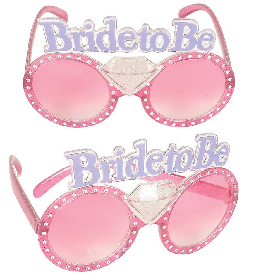 Bride To Be Glasses Diamond Ring Bachelorette Party Wedding Bridal Shower by Rhode Island Novelty